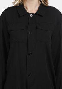 DreiMaster - Button-down blouse - black - 3