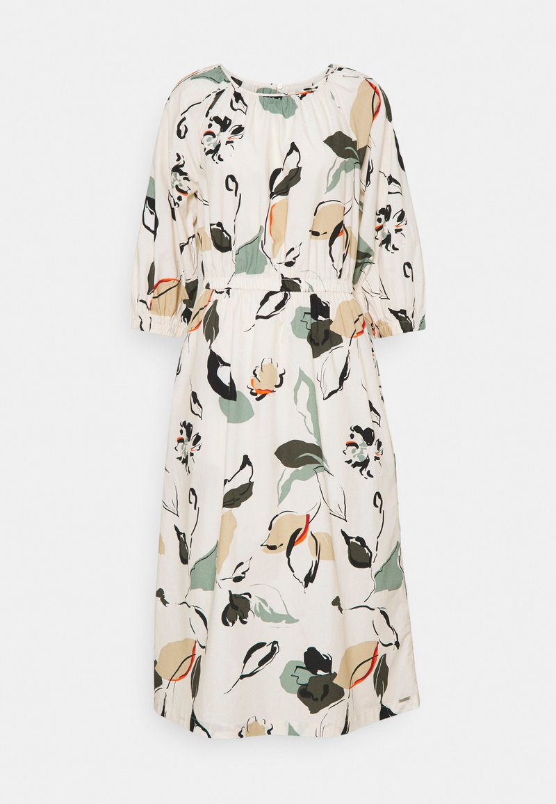 mine to five TOM TAILOR - DRESS MIDI PUFFED SLEEVES - Day dress - multi coloured