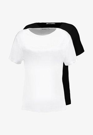 TEE 2 PACK - T-shirts - black/white