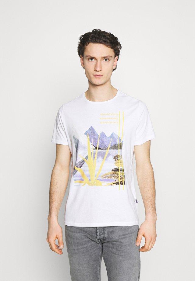 TEE - T-shirt imprimé - snow white