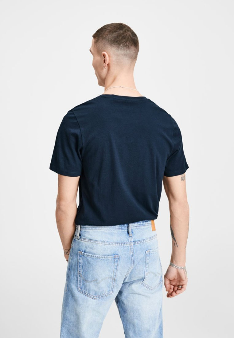 Jack & Jones JJECORP LOGO CREW NECK  - Print T-shirt - dark blue denim pV49W
