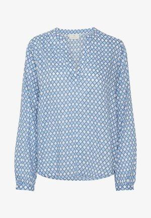 KASARY TILL - Bluser - light blue diamond print