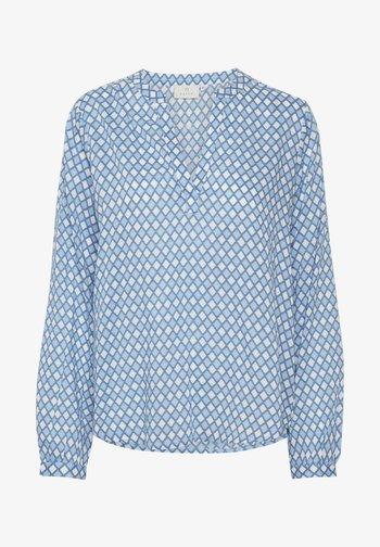 KASARY TILL - Blus - light blue diamond print