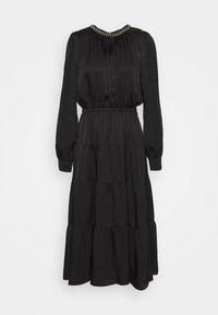 CHAIN TIERED DRESS - Maxi dress - black