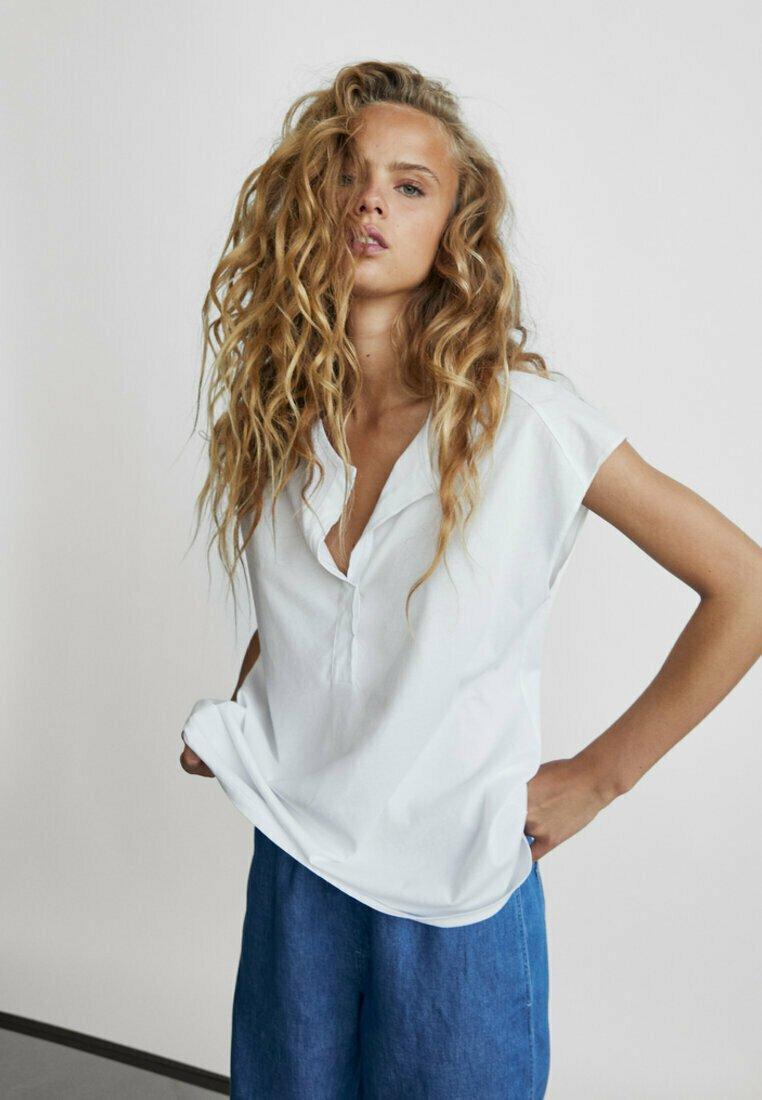 Massimo Dutti - T-shirts basic - white