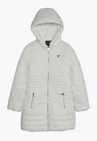 Guess - JUNIOR PADDED HOODED LONG JACKET - Płaszcz zimowy - white clay - 0