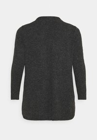 Vero Moda Curve - VMDOFFY OPEN - Cardigan - black melange - 7