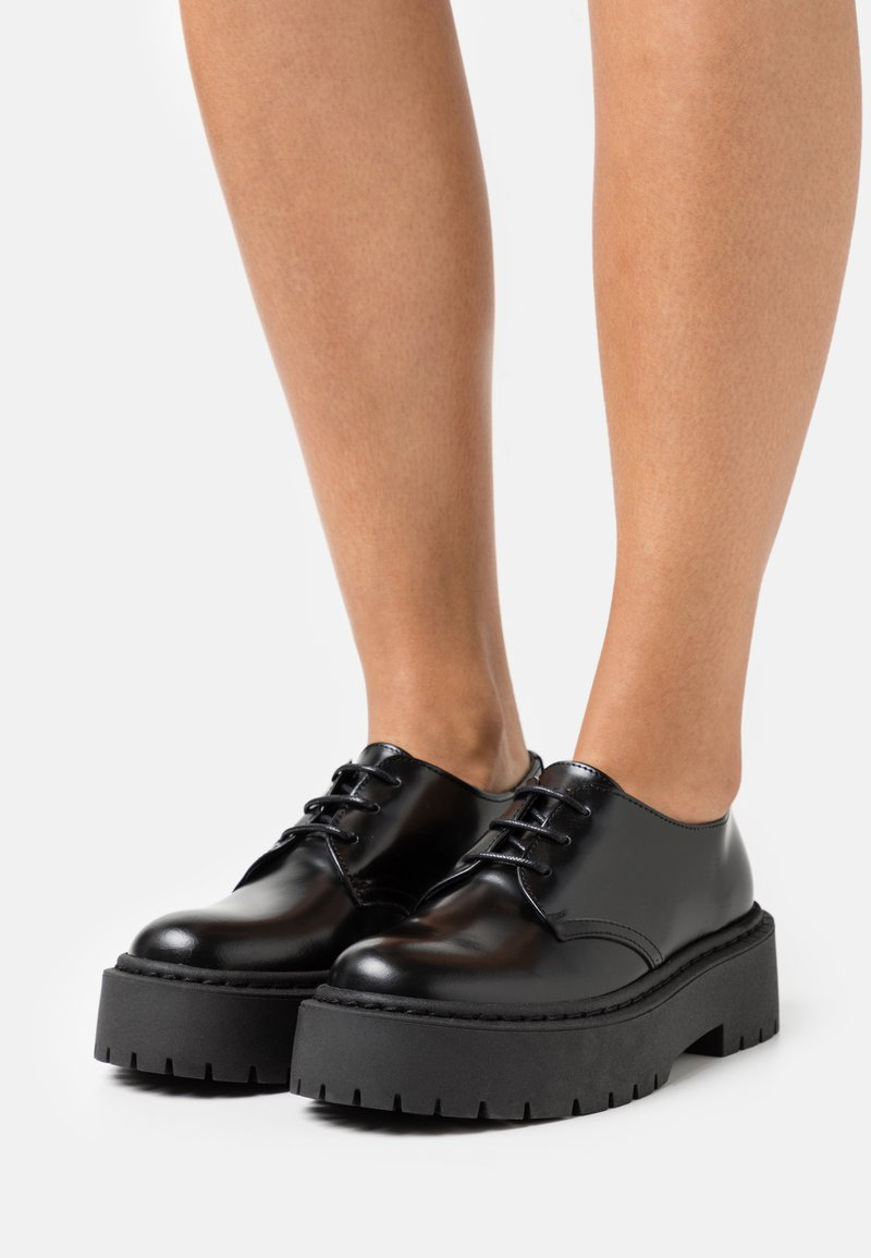 Office - FREEING CHUNKY SOLED LACE UP - Derbies - black
