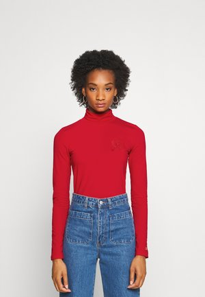 ICON SLIM ROLL NECK - Bluzka z długim rękawem - primary red