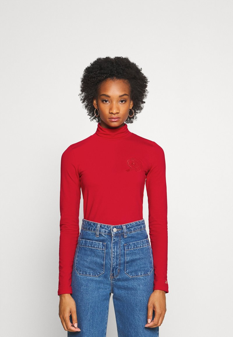 Tommy Hilfiger - ICON SLIM ROLL NECK - Long sleeved top - primary red