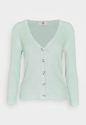 COTTON VISCOSE KNIT - Cardigan - surf spray