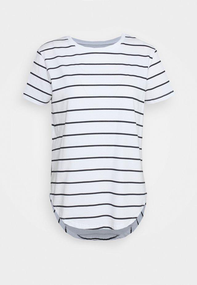 SADDLE HEM - T-shirt basic - off-white