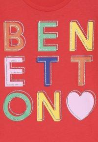 Benetton - Triko spotiskem - red - 3