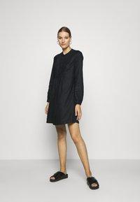 Benetton - DRESS - Skjortekjole - black - 1