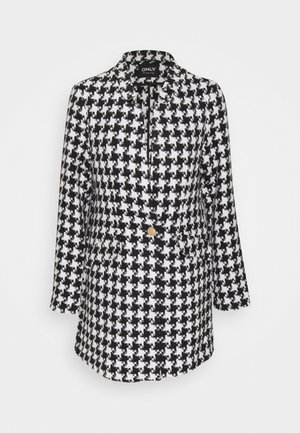 ONLCOLE CHECK COAT - Kort kåpe / frakk - white/black