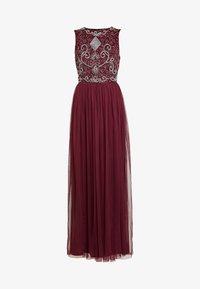 Lace & Beads - PAULA MAXI - Společenské šaty - burgundy - 5