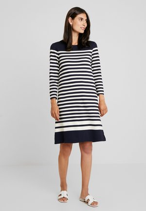 STRIPED SHIFT DRESS - Jersey dress - evening blue