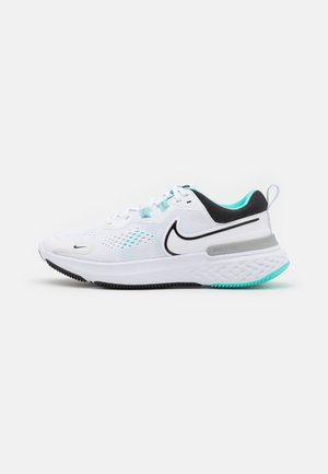 REACT MILER 2 - Neutral running shoes - white/black/dynamic turquoise