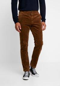 Pier One - Trousers - cognac - 0