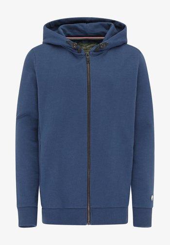 Zip-up sweatshirt - petrol blue