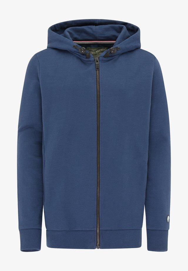 Zip-up hoodie - petrol blue