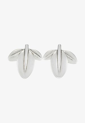 MY NATURE L CHARM LEAF EARRING - Earrings - silver-coloured