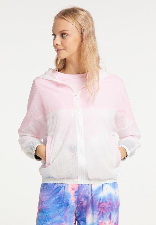 Summer jacket - weiß rosa