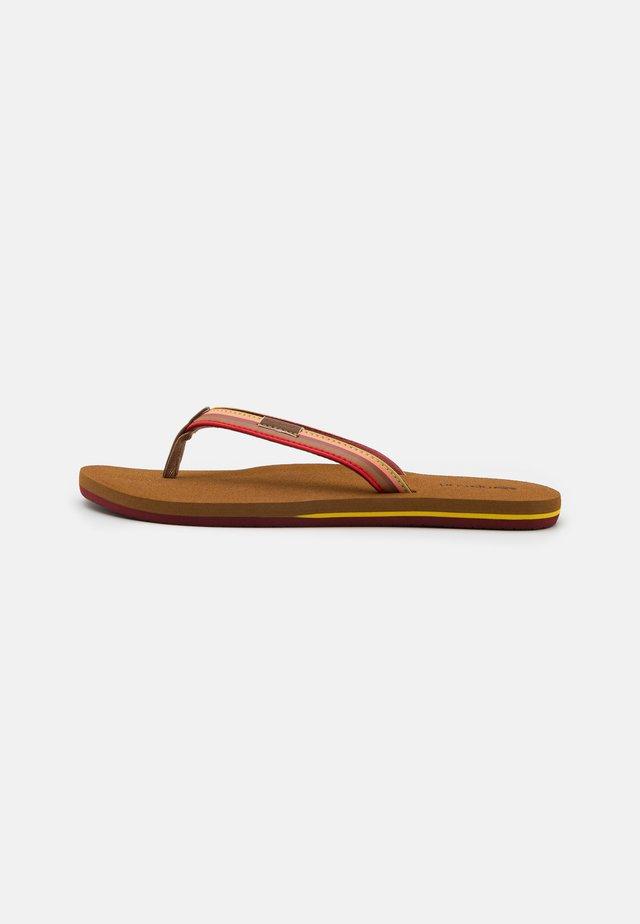 FREEDOM - T-bar sandals - wine