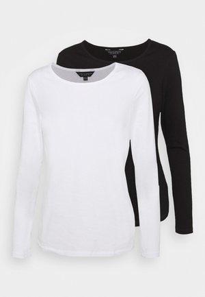 LONG SLEEVED CREW NECK 2 PACK - Ilgarankovis viršutinės dalies drabužis - black