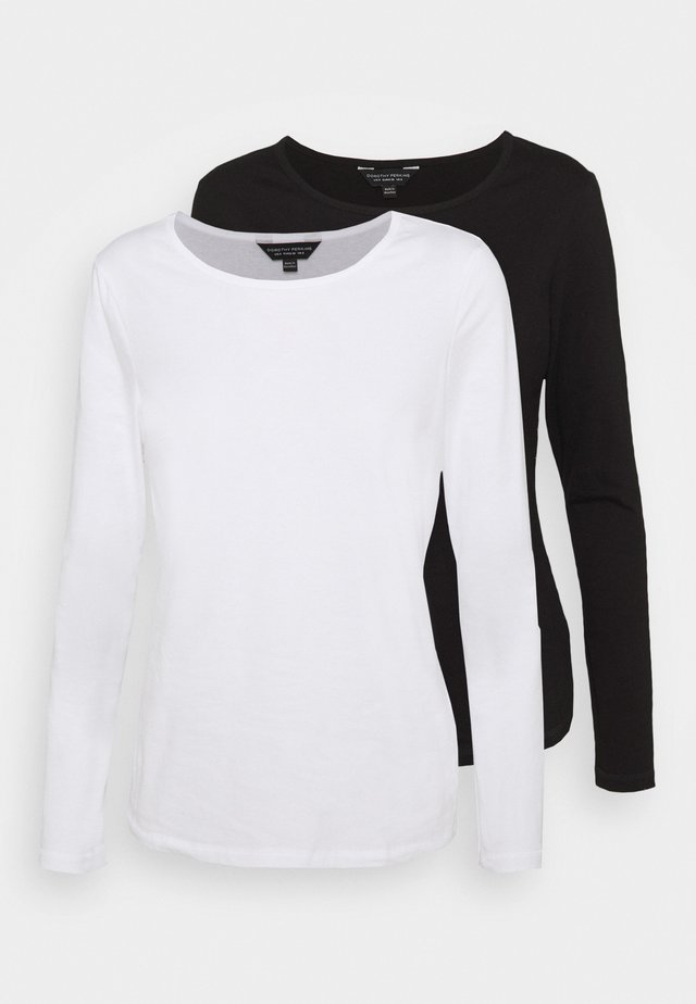 LONG SLEEVED CREW NECK 2 PACK - Top s dlouhým rukávem - black