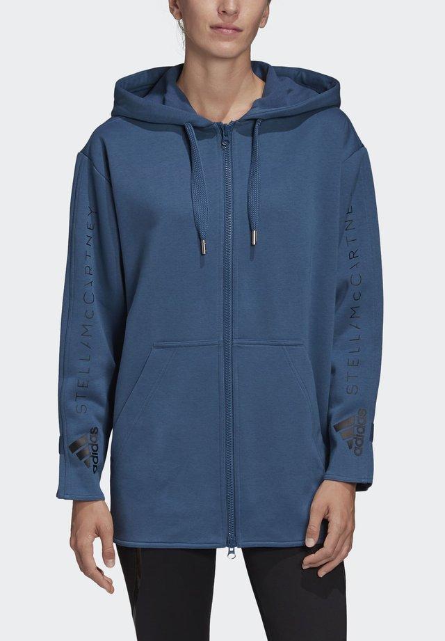 OVERSIZE HOODIE - Zip-up hoodie - blue