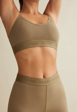 Light support sports bra - khaki