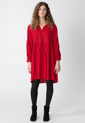 LENA - Day dress - red