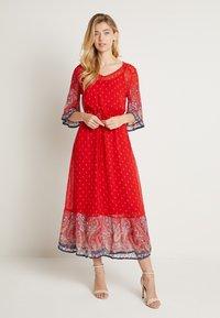 Cream - NALITACR DRESS - Robe longue - aurora red - 0
