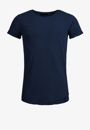 WILBUR - Print T-shirt - dark blue