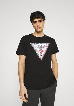 TRIESLEY TEE - T-shirt imprimé - jet black