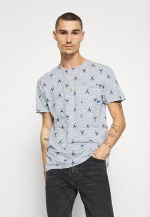 SCORPIO - T-shirt print - blue/white