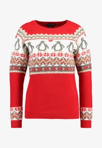 Dorothy Perkins - FAIRISLE TINSEL PENGUIN - Maglione - red