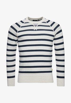 Pullover - ice marl/navy stripe
