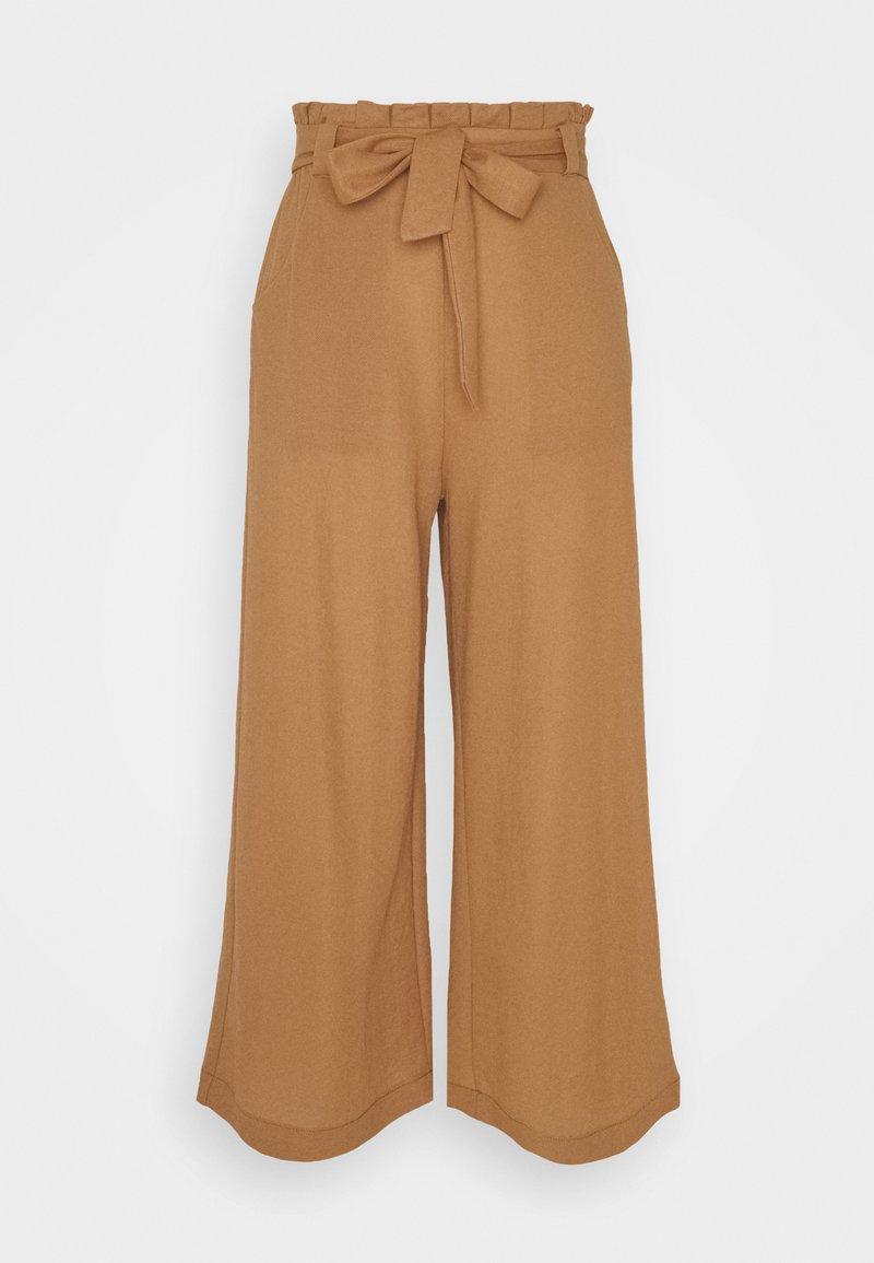 Vero Moda - VMKAYLA CULOTTE PANT - Bukse - tobacco brown