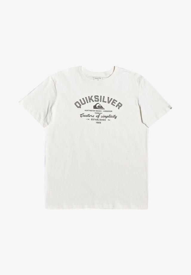 CREATORS OF SIMPLICITY - Camiseta estampada - snow white