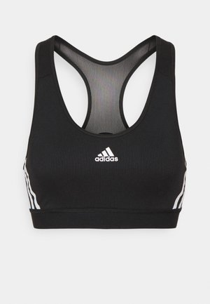 BRA - Medium support sports bra - black/white