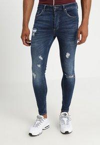 Gym King - RIP AND REPAIR - Jeans Skinny Fit - indigo - 0