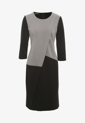 Korte jurk - grau schwarz
