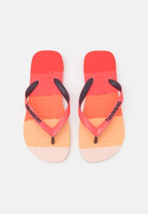LOGOMANIA UNISEX - T-bar sandals - red crush