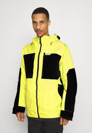 FROSTNER - Snowboard jacket - limade/trublack