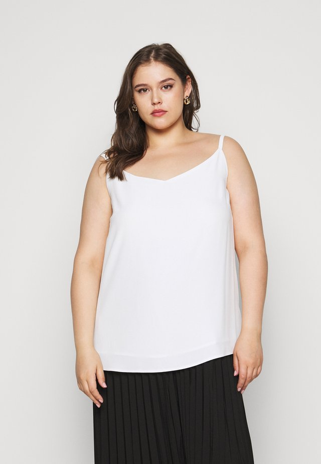 CURVE VNECK CAMI - Top - white