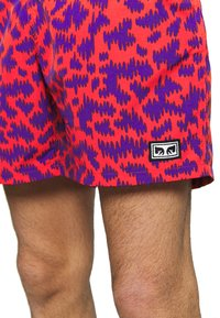 Obey Clothing - EASY RELAXED FUZZ SHORT - Kraťasy - red multi - 4