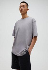 PULL&BEAR - T-shirt basic - beige - 3