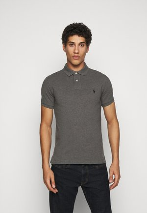 SLIM FIT - Polo - grey/black